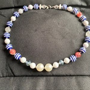 Handmade Bead Necklace Plastic Beads